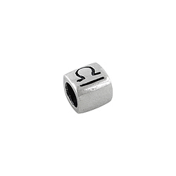 Sterling Silver Libra-The Scales Square Bead
