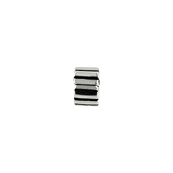 Sterling Silver Stripes Clip Pendant