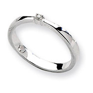 Sterling Silver White Ice .03ct Diamond Ring