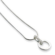 Sterling Silver White Ice .05ct. Diamond Necklace