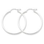 Sterling Silver 30mm Hoop Earrings
