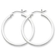 Sterling Silver 2mm Square Tube Hoop Earrings