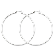Sterling Silver 2mm Square Tube Hoop Earrings
