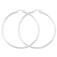 Sterling Silver 2.5mm Round Hoop Earrings