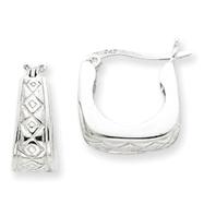 Sterling Silver Design Hoop Earrings