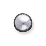 Sterling Silver 13mm Button Earrings