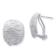 Sterling Silver Omega Back Earrings