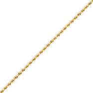 14K Gold 1.75mm Handmade Regular Rope Chain