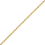 14K Gold 1.75mm Handmade Regular Rope Anklet