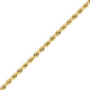 14K 2.75mm Handmade Regular Rope Chain