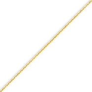 14K Gold 1.3mm Solid Diamond Cut Cable Chain