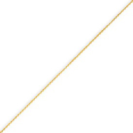 14K Gold Diamond Cut 0.65mm Spiga Pendant Chain