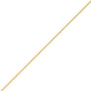 14K Gold 1 mm Solid Diamond Cut Spiga Chain