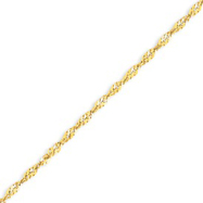 14K Gold 2.2mm Twisted Pendant Bracelet