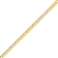 14K Gold 4.3mm Semi-Solid Curb Link Chain