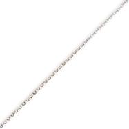 14K White Gold 1mm Rolo Pendant Chain