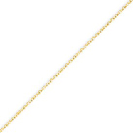 14K Gold 0.75mm Diamond Cut Cable Chain