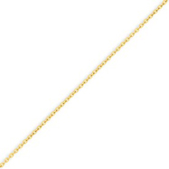 14K Gold 1.3mm Cable Chain