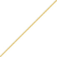 14K Gold 1.6mm Cable Chain