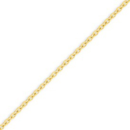 14K Gold 2.4mm Cable Chain