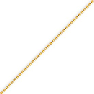 14K Gold 1.2mm Diamond Cut Baby Ball Anklet