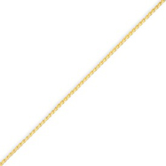 14K Gold 1.1mm Solid Polished Spiga Chain