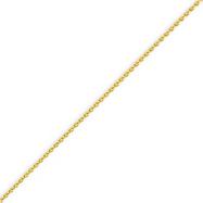 14K Gold 1.2mm Round Wheat Chain