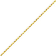 14K Gold 1.5mm Round Wheat Chain