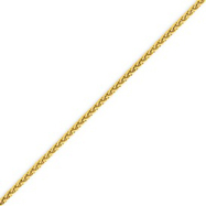 14K Gold 1.9mm Round Wheat Chain