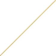 14K Gold 1.0mm Round Diamond Cut Wheat Chain