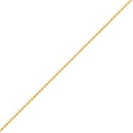 14K Gold 1.2mm Diamond Cut Wheat Chain