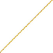14K Gold 1.5mm Diamond Cut Wheat Chain