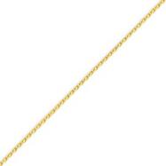 14K Gold 1.5mm Diamond Cut Wheat Chain