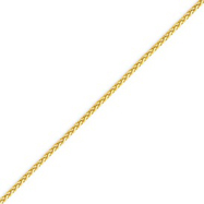14K Gold 1.9mm Round Diamond Cut Wheat Chain