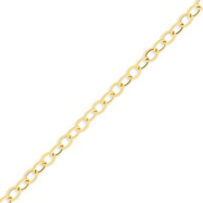 14K Gold 5.6mm Textured Cable Chain