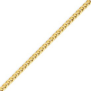 14K Gold 2.60mm Lite Wheat Chain