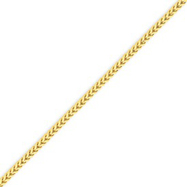 14K Gold 2.2mm Lite Franco Chain