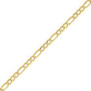 14K Gold 4.75mm Semi-Solid Figaro Bracelet