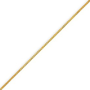 14K Gold 0.7mm Box Bracelet