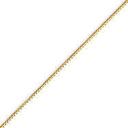 14K Gold 0.84mm Box Chain With Spring Ring
