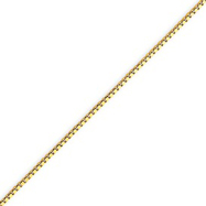14K Gold 1.1mm Box Chain