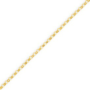 14K Gold 1.25mm Hollow Rolo Bracelet