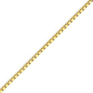 14K Gold 2mm Box Bracelet