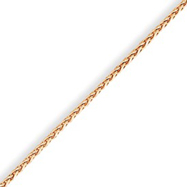 14K Rose Gold 1.4mm Wheat Chain