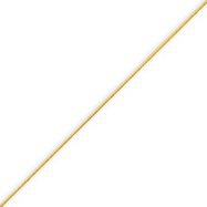 14K Gold 0.6mm Round Snake Chain