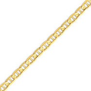14K Gold 6.25mm Concave Anchor Bracelet