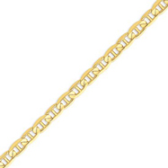 14K Gold 7mm Concave Anchor Bracelet