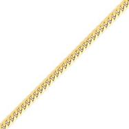 14K Gold 4.0mm Domed Curb Bracelet