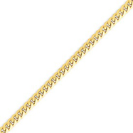 14K Gold 4.0mm Domed Curb Chain