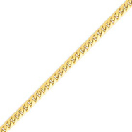 14K Gold 5mm Domed Curb Chain